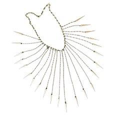 Unique Vintage 1970's Bronze Statement Piece Necklace - Original and Rare