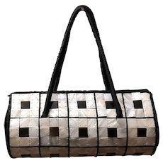 Rare and Gorgeous Buffalo Horn Tiled Handbag/Purse - Brilliant and Beautiful!