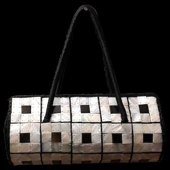 Rare and Gorgeous Buffalo Horn Tiled Handbag/Purse - Brilliant and Beautiful!