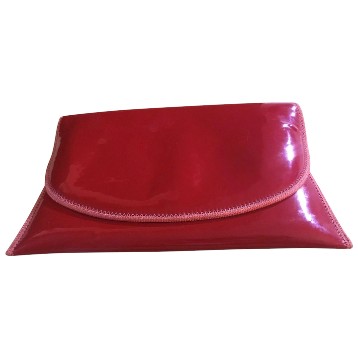 5f683f583e9 Unique Designer Red Clutch Purse - Pappagallo : Rescued Rarities | Ruby Lane