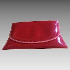 Unique, Vintage Designer Red Clutch Purse - Pappagallo