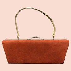 Vintage Designer - Sasha - Unique Chic Suede Handbag/Purse