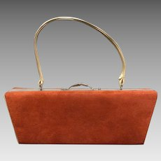 Vintage Designer - Sasha - Unique Chic Suede Handbag/Purse