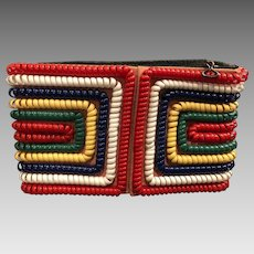 Rare One-of-a-Kind Mid-Century Telephone Cord Clutch Purse