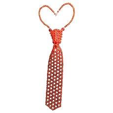 "One-of-a-Kind Vintage Lucite ""Necktie"" Necklace"