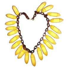 One-of-a-Kind Bakelite Art-Deco Necklace - Tested