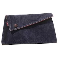 """Vintage Levis Strauss Clutch Purse - """"School's Out for Summer"""""""