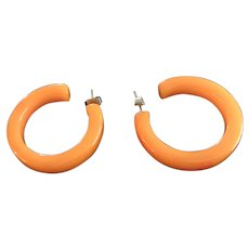 Bakelite Hoop Earrings - TESTED!