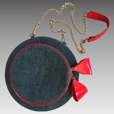 "1980's Denim ""Hat"" Handbag/Purse: One-of-a-Kind!"