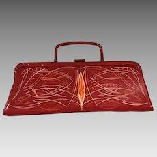 Unique Designer Red Clutch Purse - Bobbie Jerome