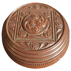 Rare Carved Bakelite Trinket Box