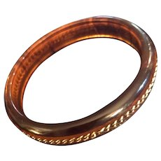 Rare Smoky Amber Bakelite Bangle