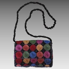 Vintage 80's Glass Beaded Purse