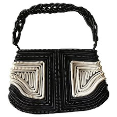 """One-of-a-Kind 1940's  """"Telephone Cord"""" Purse - Unique and Rare"""