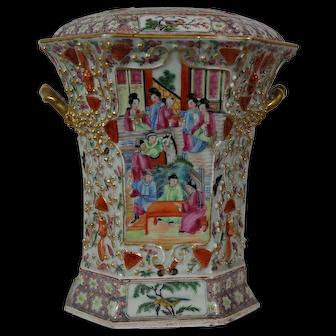 Antique Chinese Canton Bough Pot or Pique-Fleur, Qing Period 19th C