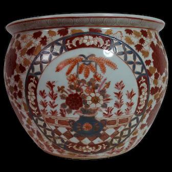 Vintage Chinese Imari Planter or Fish Bowl (Item B)