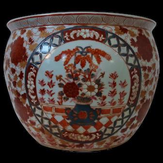 Vintage Chinese Imari Planter or Fish Bowl (Item A)