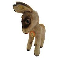 Steiff Grissy Donkey with ID, 17 CM tall