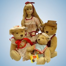 Largest set Goldilocks and 3 Bears, Suzanne Gibson and Steiff