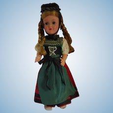 """12"""" Celluloid /Plastic Souvenir Doll"""