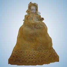 "3"" tall Bisque miniature Doll"