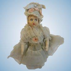 """6"""" Felt Lenci type miniature doll"""