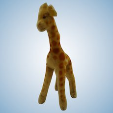 STEIFF 23CM Giraffe with ID, button and flag