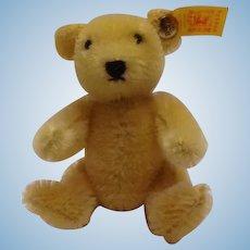 STEIFF Small 10 CM Golden Blond Teddy Bear with Ear Tag and Steiff Button