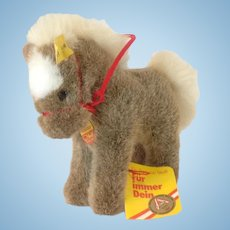 STEIFF Stompy Brown Pony, 14 CM tall and all IDs and one more