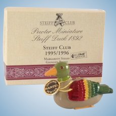 STEIFF CLUB Pewter Duck in box