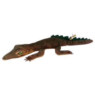 STEIFF Velvet GATY Crocodile with all IDS