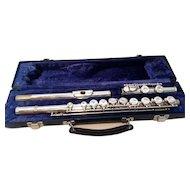 Silver Plate Emerson ELD Student Flute in case