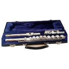 Silver Plate Emerson ELD Student Flute in case