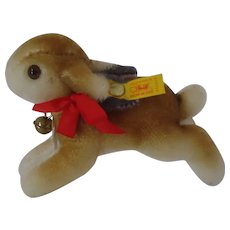 STEIFF Historic Replica Hase Running Rabbit 14CM, MINT