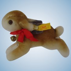 STEIFF Historic Replica Hase Running Rabbit 14CM, MINT