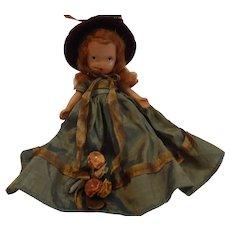 Nancy Ann Storybook Bisque Doll 5 1/2 inches