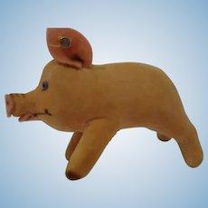 STEIFF 7CM Jolanthe Velvet Pig, with button