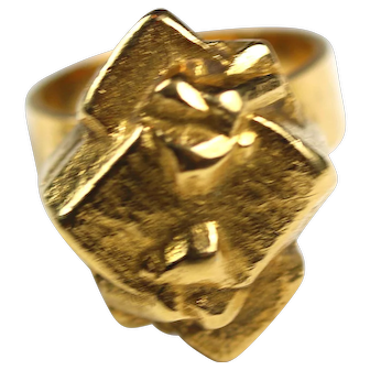 Lapponia 18K Gold Cubic Nugget Ring