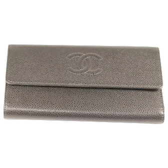 Chanel Grey-Brown Wallet