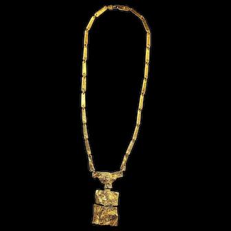 """Lapponia 18K """"Sacrificial Stone"""" Necklace by Bjorn Weckstrom"""