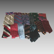 Men's Neckties 1960's &70's Silk Poly Acetate and Designers Lot of 16