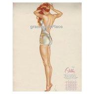 Esquire  Pin-Up Girl by Alberto Vargas Calendar Art Print 1946