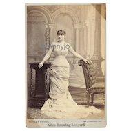 Alice Dunning Lingard English Actress, Original 1870's Cabinet Photo