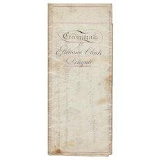 1860 Democratic Delegate Credentials, Ephraim Clark, New York