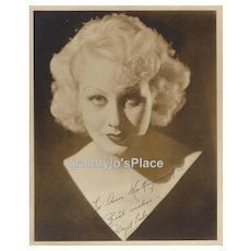 Autograph Photo of HAZEL FORBES, Ziegfeld Girl 1935 Rare