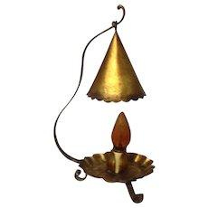 Vintage Arts & Crafts Table Lamp Tin & Iron