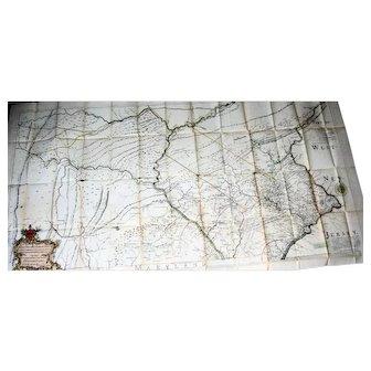 Nicholas Scull 1759 MAP,  Province Of Pennsylvania, 19th Century Reprint #23
