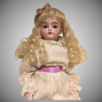 Adorable Early Kestner turned Head 18 Inch Bebe Doll