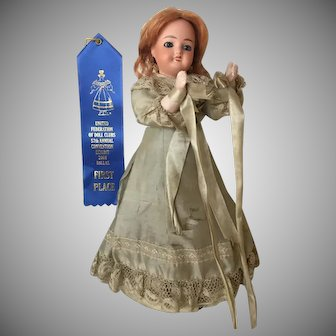 """1860's French """"Poupee Musique"""" French Waltzing Doll by Leon Prieur  with  Music Mechanism All Original 11"""""""