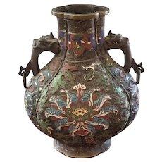 Bronze Champleve vase